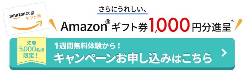 Aamazonギフト券キャンペーン